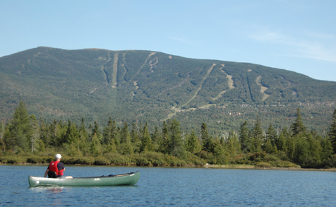 Saddleback Lake with Canoe